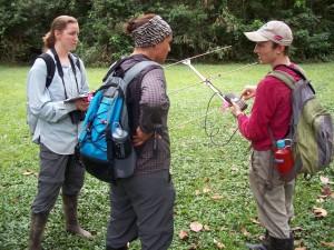Primates Peru radio telemetry